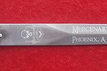MERCENARY WARS LOGO ON A TEMPLAR DAGGER