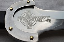 A CELTIC CROSS ON A SBA-CELTICSHORTSWORD