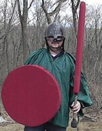 Red Round Punch Shield 24in diameter