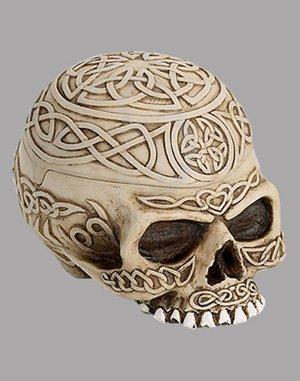 Celtic Skull with Stash Box