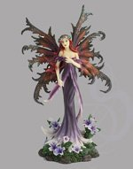 Fairy with Lilac Flowers Statue