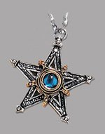 Medieval Pentangle Gothic Pendant
