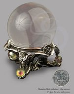 Miniature Crystal Ball with Gothic Pedestal Stand