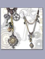 Steampunk Necklace with Plethora of Post-Retro Parts