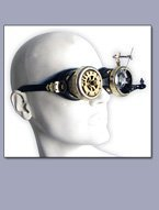 One-Off Designed Wearable Brass Goggles