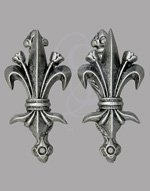 Fleur de Lis Wall Hangers for Swords, Daggers, and Pistols