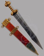 Decorative Mainz Gladius, Red