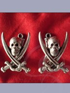 Pewter Pirate Wall Hangers