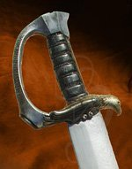 Sparring Pirate Sword with Faux Horn Grip