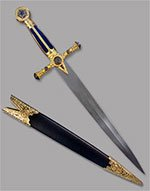 Scratch and Dent - Masonic Short Sword with Blue Grip