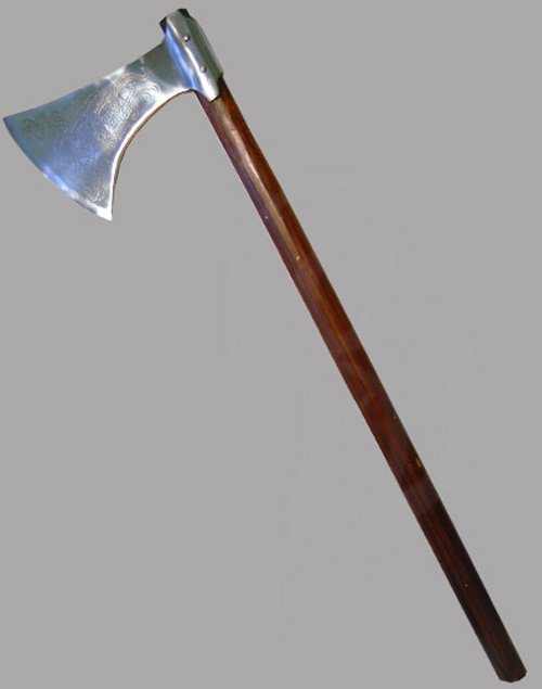 Decorative Battle Axe For Display Or Costume Use