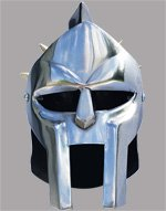 Miniature Gladiator Helmet with Hinged Face Mask