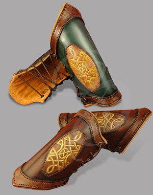 Premium Celtic Leather Bracers