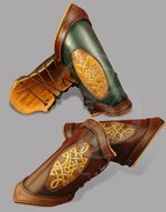 Ultra High-End 'LeatherWorks' Series Leather Bracers - Celtic