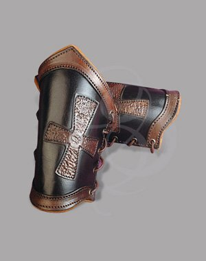Handcrafted Knight Leather Bracers