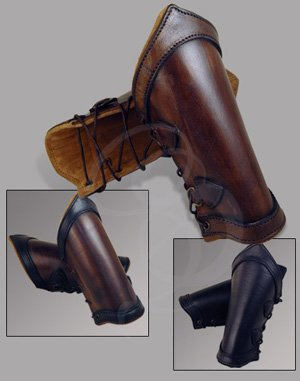 Premium Leather Vambraces- Swordsman