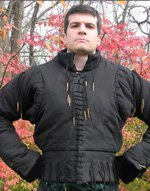 Full Sleeve,  XV Century, Cotton Arming Doublet, Size L, Black