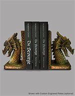 Polyresin Dragon Bookends