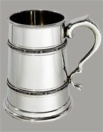 Scratch and Dent Two Pint Double Celtic Band Pewter Tankard