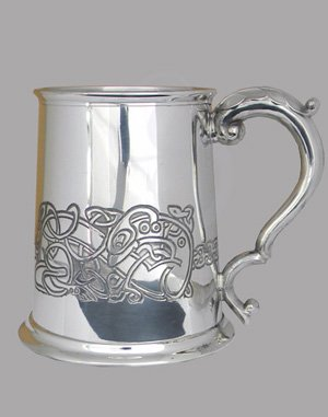 Celtic Dragon Pewter Tankard