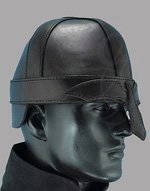 Warriors Leather Helmet Black Medium